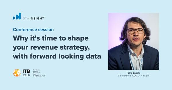 Gino Engels of OTA Insight speaking at ITB Berlin 2021