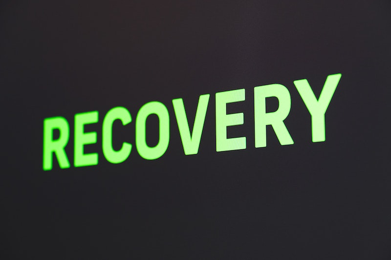 Recovery-neon-lettering