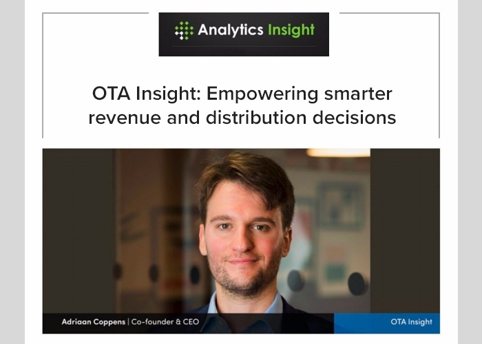 "OTA Insight one of ""10 Most Valued Business Intelligence Companies"""